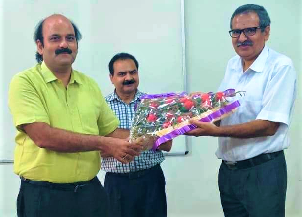 AKTU felicitates Prof. M.S. Gaur, Senior, Professor, Hindustan College On Teacher's Day